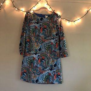 J. Crew printed shift dress